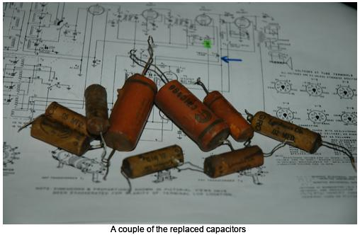A couple of the replaced capacitors